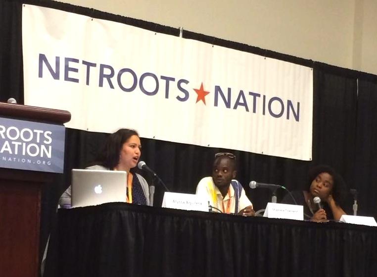 Talking about criminalization of poverty - Netroots 2014 - Amber Richardson