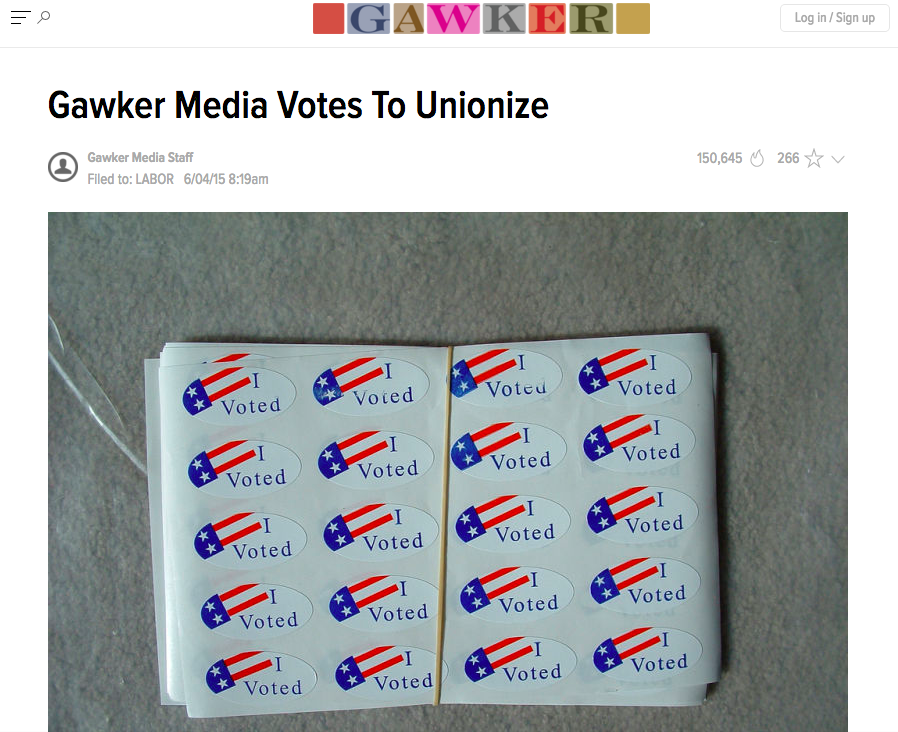 In June 2015, Gawker workers voted to unionize. Now, media workers worldwide are talking about how they can organize their own workplaces. Screenshot by J-Source.